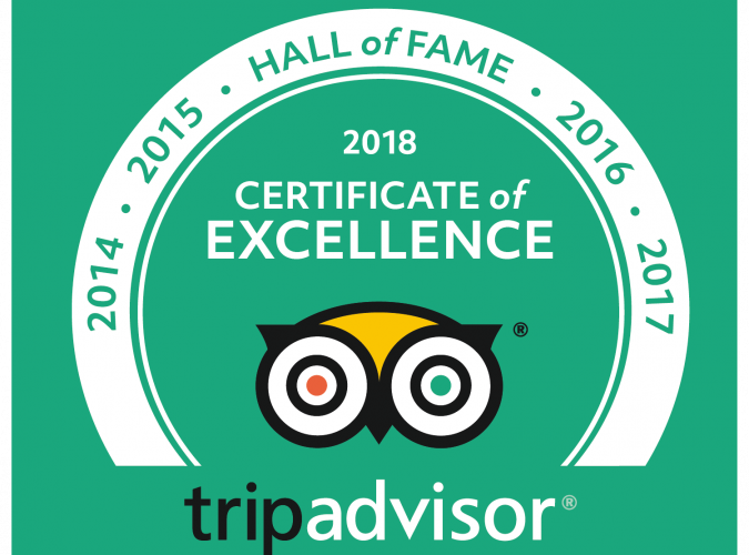 Tripadvisor Hall of Fame!
