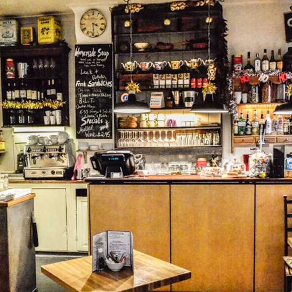 The rustic charm of our 1st floor cafe
